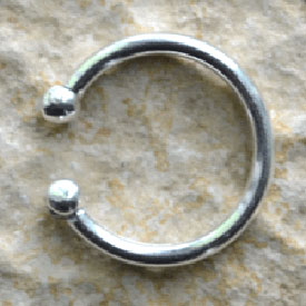 Fake Piercing  12 mm schlicht