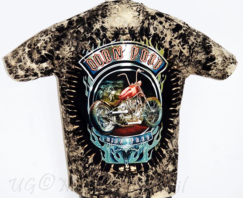 T-Shirt  Biker Born free  XXXL