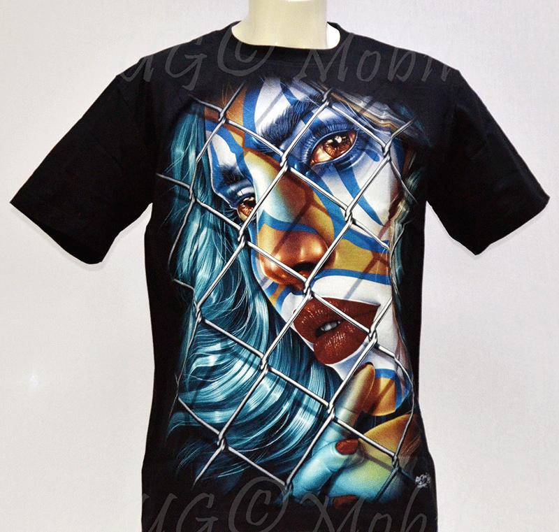 T-Shirt - Clown-Frau Zaun