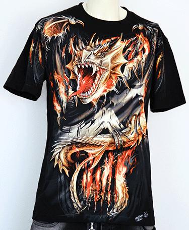 T-Shirt  Drache mit Flügel  3 D