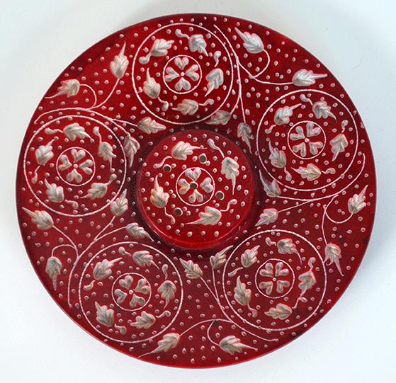 Räucherteller - Räucherstäbchen rot 10 cm
