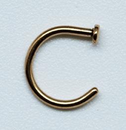 Nasenpiercing  -  Nasen-Ring rose 7mm r