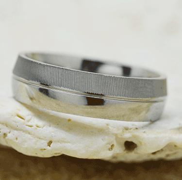 Edelstahl Ring eismatt + glanz
