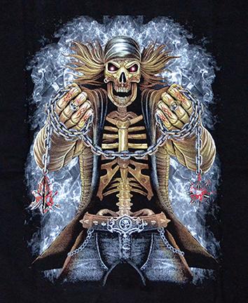Kinder - T-Shirt  Skelett Biker