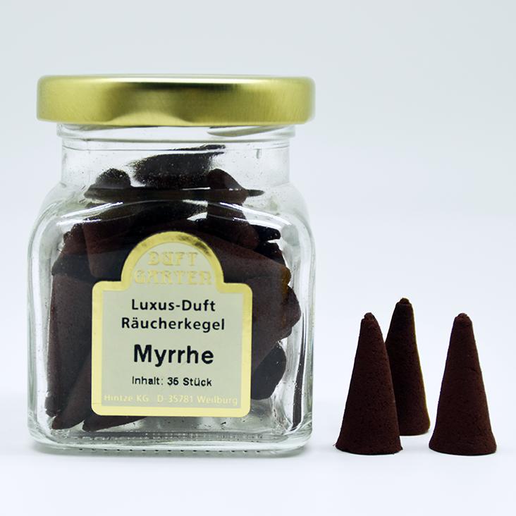Räucherkegel - Myrrhe 35 Stück