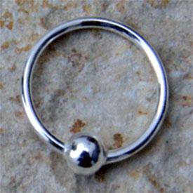 Nasen-Ring Kugel  10 mm