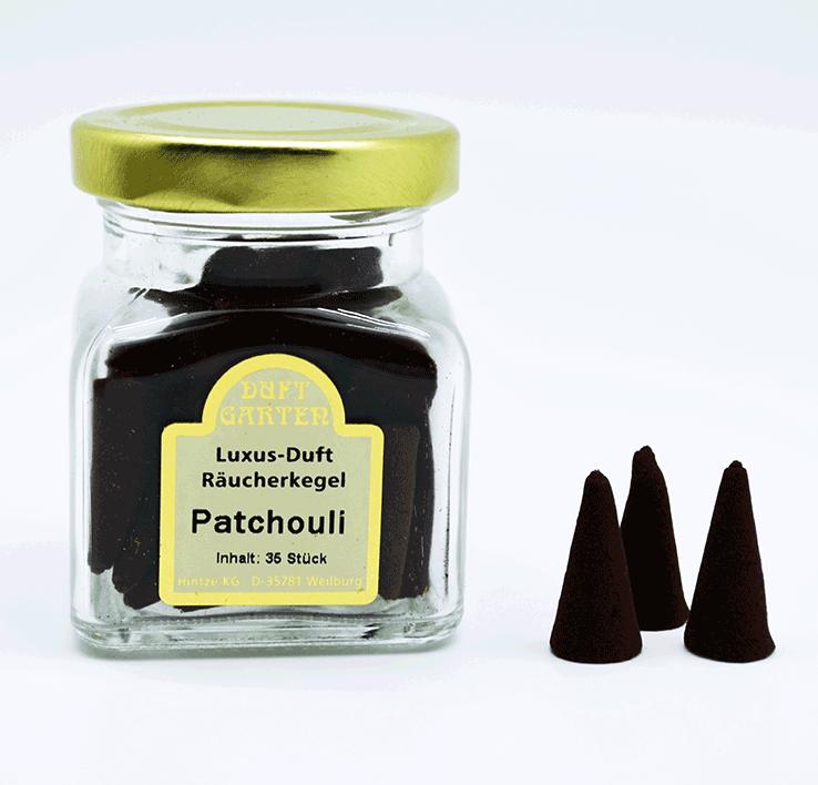 Räucherkegel - Patchouli 35 Stück