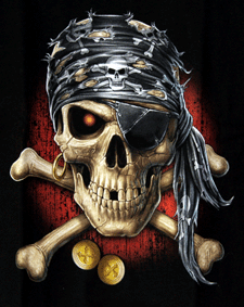 Kinder - T-Shirt  Totenkopf  Pirat