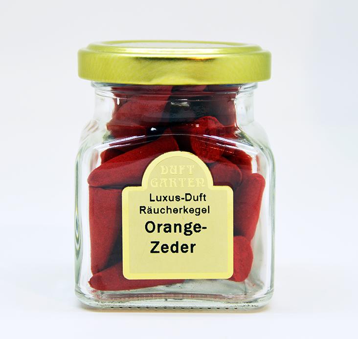 Räucherkegel Orange Zeder 35 Stück