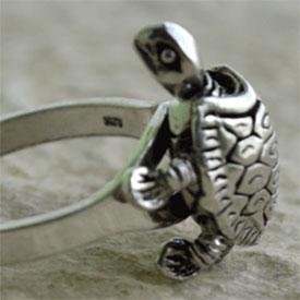 Schildkröte -  Ring - beweglich