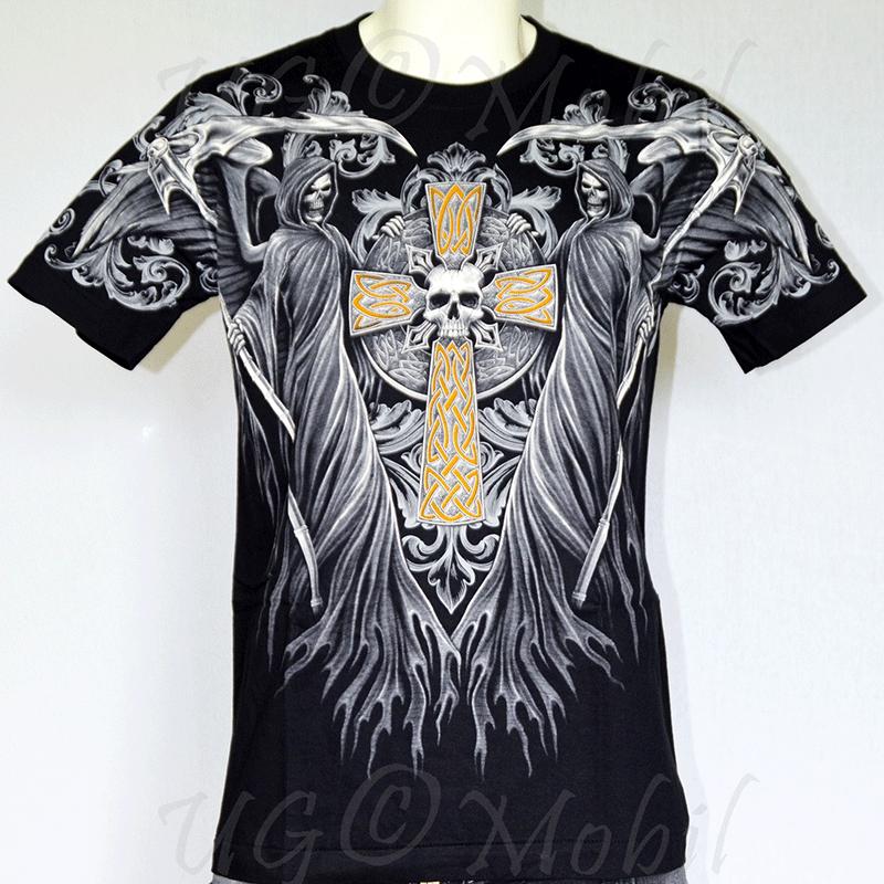 T-Shirt Sensenmann Kreuz