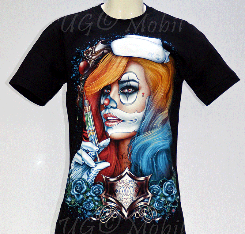 T-Shirt Clownfrau Spritze M