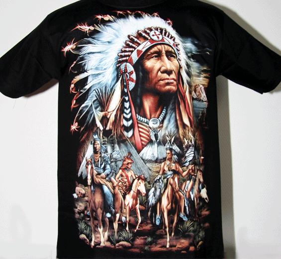 T-Shirt  Indianer + Häuptling