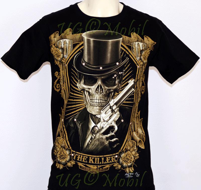 T-Shirt  Totenkopf Zylinder
