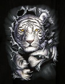 Kinder - T-Shirt  weißer Tiger