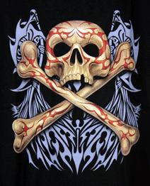 Kids  -  T-Shirt  Totenkopf Knochen