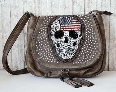Totenkopf Umhängetasche US