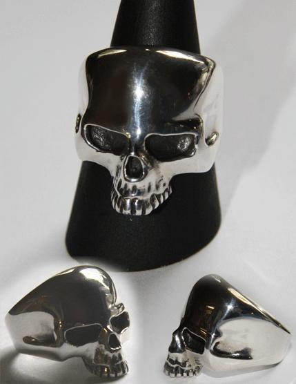 Ring Totenkopf ohne Unterkiefer
