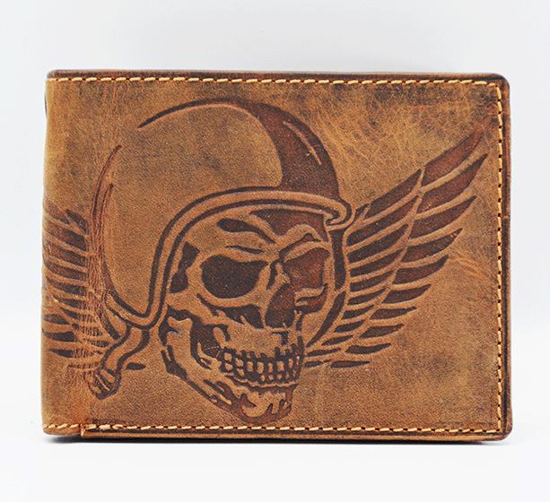 Geldbeutel Totenkopf Skull Wing of Hell Jockey Club