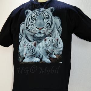 T-Shirt  weiße Tiger  XXXL
