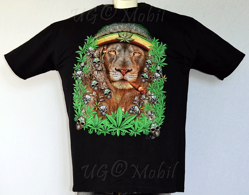 T-Shirt  Rasta Löwe XXXL